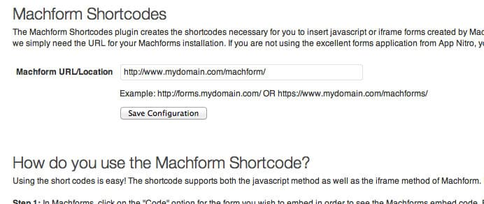 WordPress Plugin: Machform Shortcode :: Laymance Technologies